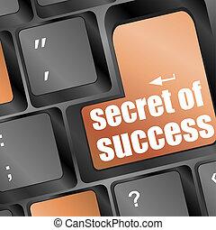 segreto, chiave calcolatore, successo, tastiera