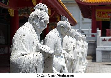 seguidores, estatuas, 72