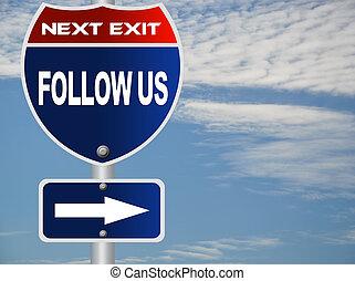 seguire, ci, segno strada