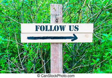 seguire, direzionale, ci, segno