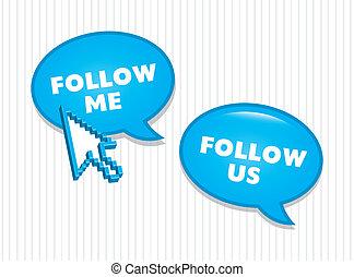 seguire, icone