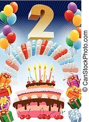 segundo cumpleaños