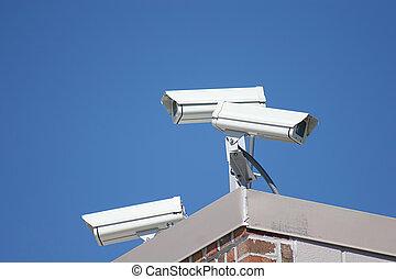 segurança, 2, cameras