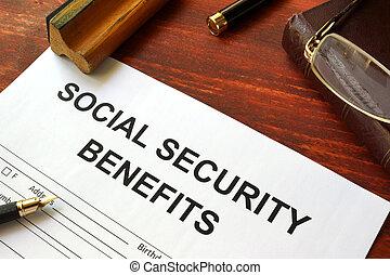 segurança, benefícios, forma, social