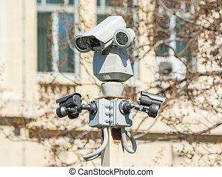 segurança, câmera vigilância