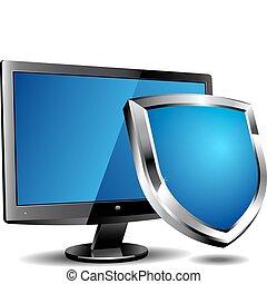 segurança computador, escudo