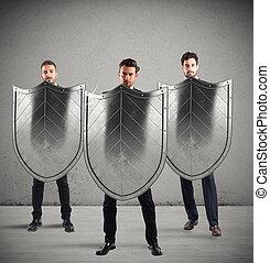 segurança, e, proteção, em, negócio