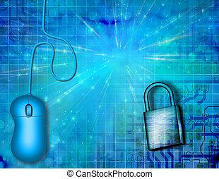 segurança, eletrônico