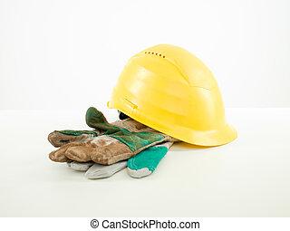 segurança, equipamento construção