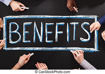 segurança, escrita, benefícios, pessoas, social