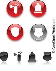 segurança, icons.