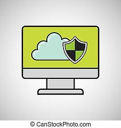 segurança internet, computador, proteção