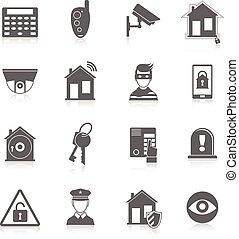 segurança lar, ícones