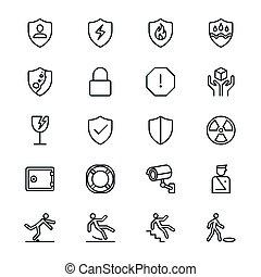 segurança, magra, ícones