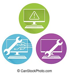 segurança, manutenção, ícone