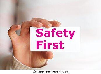 segurança primeiro