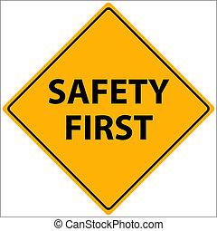 segurança primeiro, vetorial