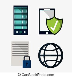 segurança, proteção, dados, sistema, cyber