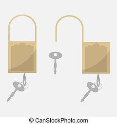 segurança, símbolo, para, seu, web site, desenho, logotipo, app, ui., vetorial, illustration.