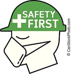 segurança, símbolo, primeiro
