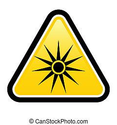 segurança, sinais, triângulo aviso, sinal