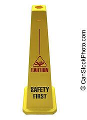 segurança, sinal.