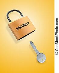 segurança, tecla