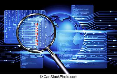 segurança, tecnologia computador