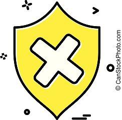 segurança, vetorial, ícone, proteção, escudo, desenho