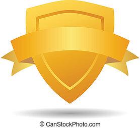 segurança, vetorial, emblema, heraldic