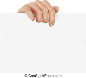 segurando mão, negócio, object.