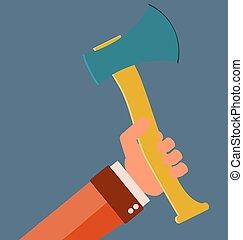 segurar, ax., mão