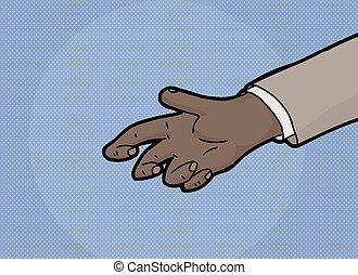segurar, vazio, mão