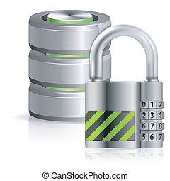 seguridad, base de datos, concepto