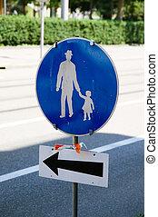 seguridad camino, señal