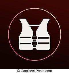 seguridad, chaleco, icono