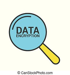 seguridad, concept:, aumentar, óptico, vidrio, con, palabras, datos, codificación