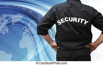 seguridad, concepto, internet