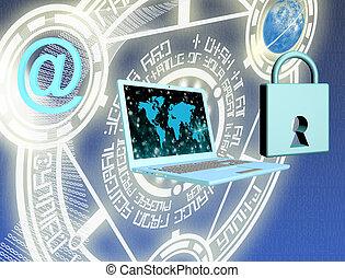 seguridad, conexión de internet