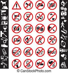 seguridad, iconos