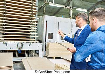 seguridad, inspección, en, fábrica