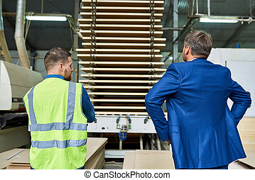 seguridad, inspección, en, moderno, fábrica