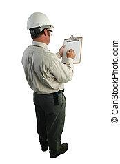 seguridad, inspector, lista de verificación
