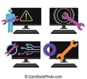 seguridad, mantenimiento, icono
