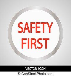 seguridad primero, icon.