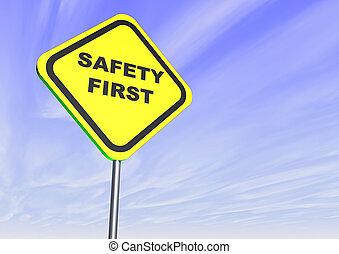 seguridad primero, muestra del camino