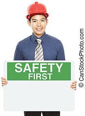seguridad primero, señal