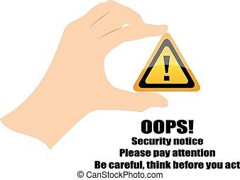 seguridad, señal de peligro