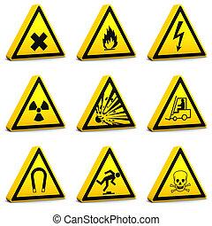 seguridad, señales, -, set01
