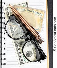 seguridad social, planificación, para, retiro, ingresos